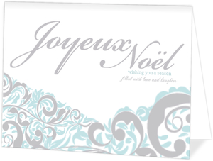 Joyeux Noel Swirls Christmas Card