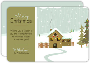 Cozy Cabin Christmas Card