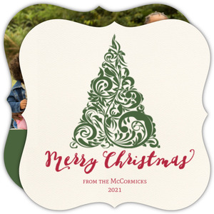 elegant christmas tree christmas card - Elegant Christmas Cards