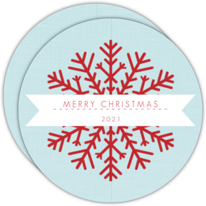 Simple Snowflake Circle Christmas Card