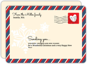 Postal Envelope Christmas Card