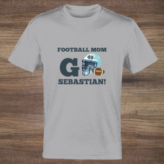 Football Helmet Mom Tshirt
