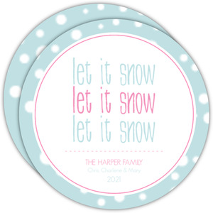 Let It Snow Circle Christmas Card