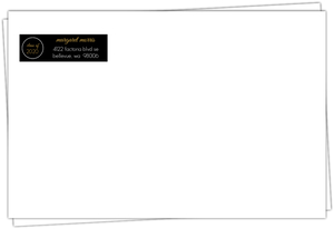 Black Multi Photo Graduation Envelope