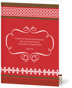 Red Religious Christmas Card