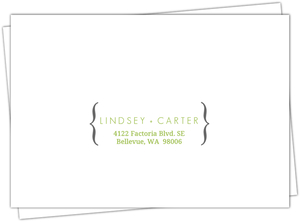 Modern Rustic Gray And White Tree Mailing Envelope