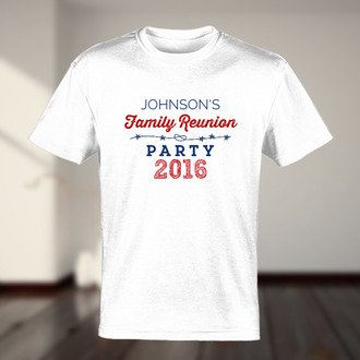 Red And Blue Family Reunion Party T-shirt