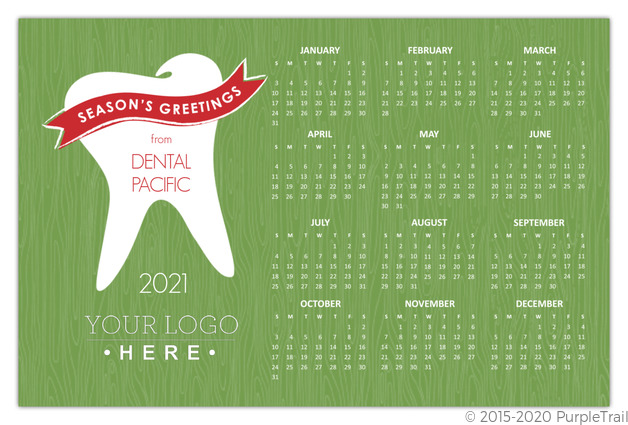 Green dental business calendar holiday card business christmas cards green dental business calendar holiday card reheart Choice Image