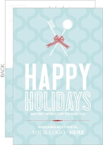 Business christmas cards company christmas cards modern dental tools christmas card reheart Choice Image
