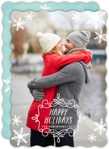 Falling Snowflakes Holiday Card