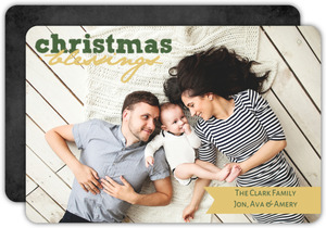 Simple Blessings Christmas Photo Card
