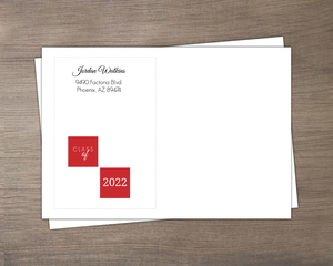 Gray and Red  Custom Envelope