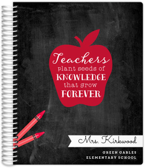 Red Apple Quote Custom Teacher Planner