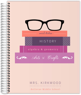 Glasses & Books Custom Teacher Planner