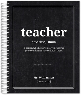 Teacher Definition Custom Teacher Planner