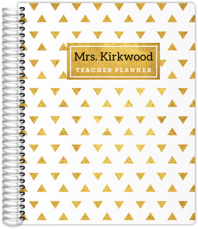Golden Modern Triangle Pattern Teacher Planner