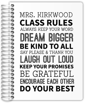 Classroom Rules Teacher Planner