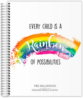 Every Child Is A Rainbow Teacher Planner