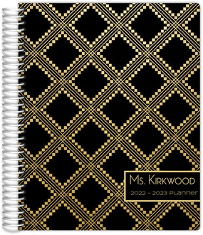 Faux Gold Aztec Pattern Custom Teacher Planner