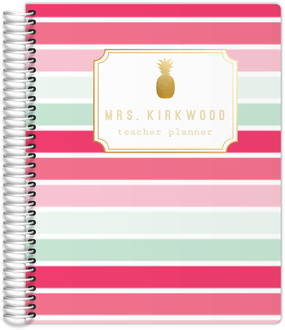 Tropical Sorbet Monogram Custom Teacher Planner