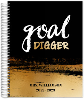 Faux Gold Goad Digger Teacher Planner