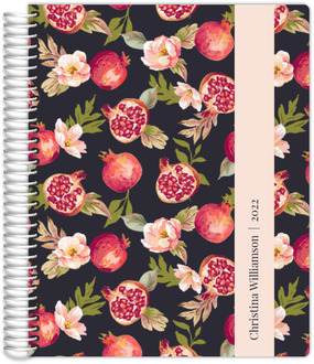 Pomegranate and Florals Custom Teacher Planner