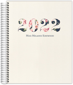 Pink and Navy Floral Custom Teacher Planner