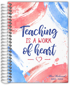 Fun Brush Strokes Teacher Planner