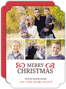 Traditional Christmas Photo Card