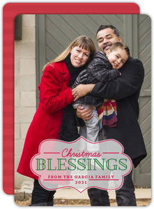 Classic Christmas Frame Photo Card