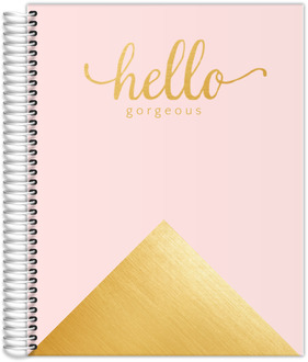 Faux Foil Gold Hello Gorgeous Custom Teacher Planner