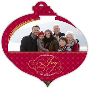 Wishing You Joy This Christmas Photo Card