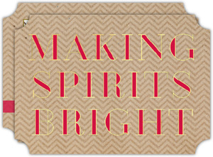 Making Spirits Bright Holiday Photo Card