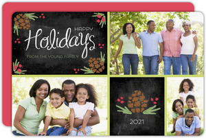 Multi Photo Chalkboard Holiday Card