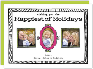 Quirky Modern Holiday Photo Card