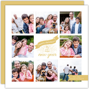 Modern Celebrations Multi Photo Christmas Card
