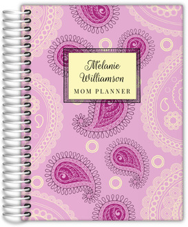 Pink Paisley Pattern Custom Mom Planner