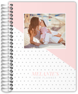 Soft Blush Polka Dot Photo Mom Planner