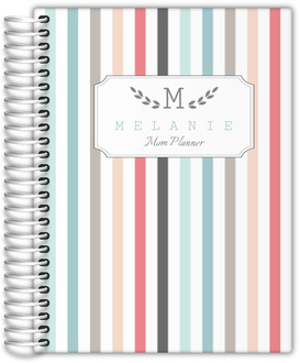 Colorful Pinstripe Mom Planner