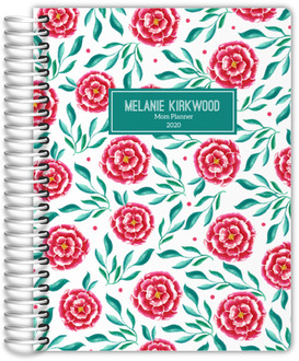 Pink and Green Floral Pattern Custom Mom Planner