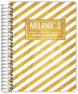 Stunning Faux Gold Stripes Mom Planner