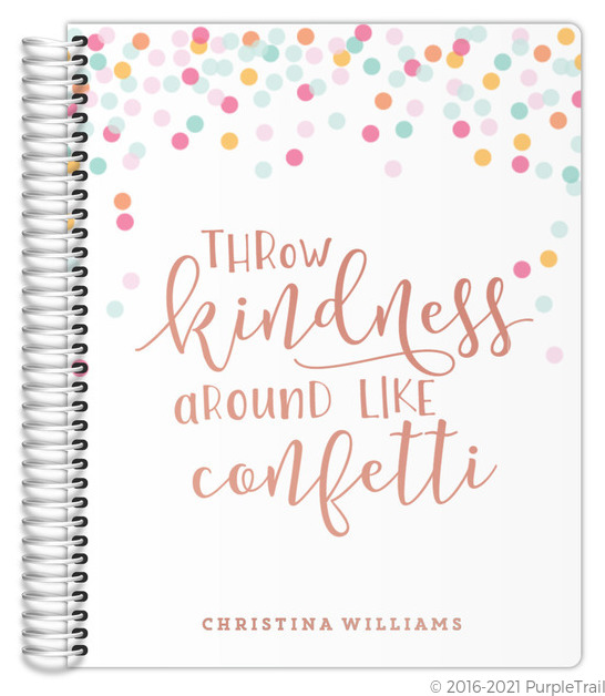 Throw Kindness Real Foil Mom Planner
