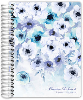 Watercolor Anemones Mom Planner