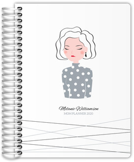 Modern Woman Illustration Custom Mom Planner