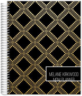 Faux Gold Foil Aztec Pattern Mom Planner