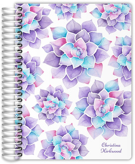 Lilac Watercolor Succulent Mom Planner