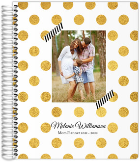 Classic Golden Polka Dot Custom Photo Mom Planner