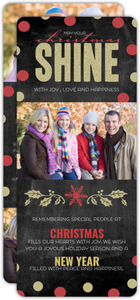 Red and Gold Christmas Photo Card