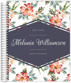 Delicate Watercolor Floral Custom Mom Planner