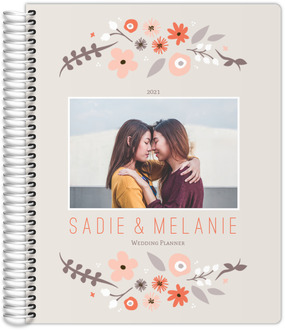 Whimsy Floral Frame Custom Wedding Planner
